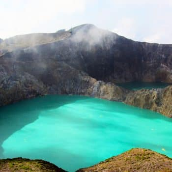 Kelimutu Volcanic Lakes in Indonesia