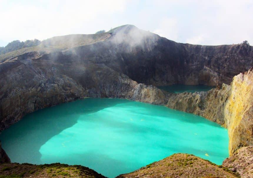 Kelimutu Volcanic Lakes in Indonesia